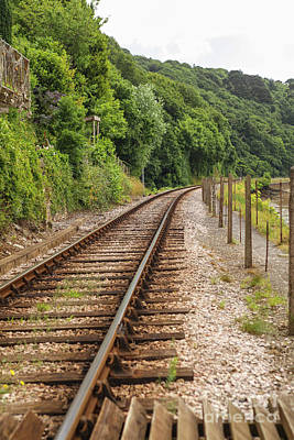 Photograph - Single Railway Track by Patricia Hofmeester