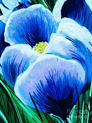 Painting - Single Spring Crocus by Jennifer Lake