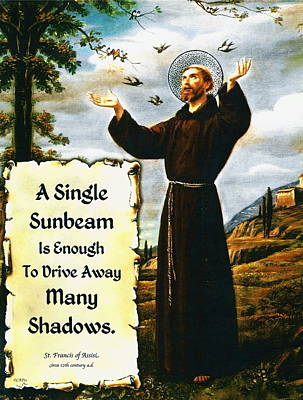 St Francis Prayer Painting - Single Sunbeam Quote By St. Francis Of Assisi by Desiderata Gallery