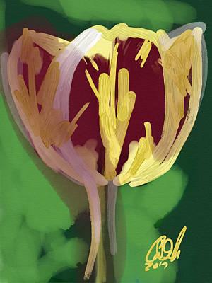 Single Tulip Art Print by Carl Griffasi