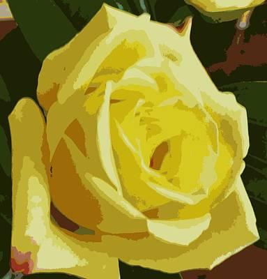 Photograph - Single Yellow Friendship Rose by Karen J Shine