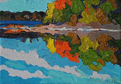 Landscape Painting - Singleton Fall Reflections by Phil Chadwick