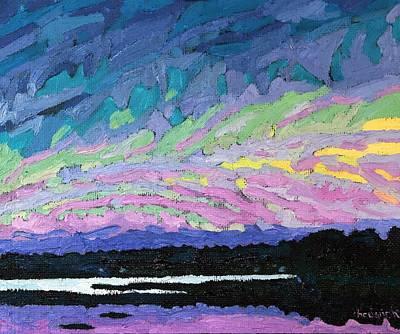 Singleton May Sunset Original by Phil Chadwick