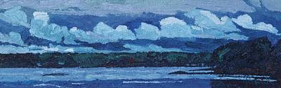 Painting - Singleton Rain Clouds by Phil Chadwick