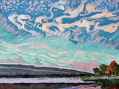 Skyscape Painting - Singleton Storm by Phil Chadwick