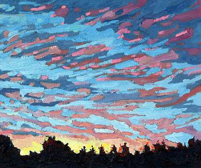 Painting - Singleton Sunday Sunrise by Phil Chadwick