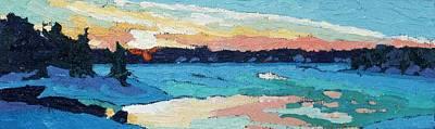 Painting - Singleton Sunset Reflection by Phil Chadwick