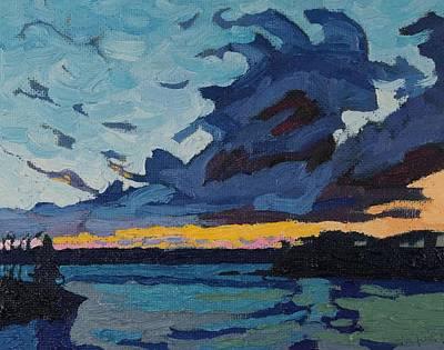 Singleton Sunset Stratocumulus Art Print by Phil Chadwick