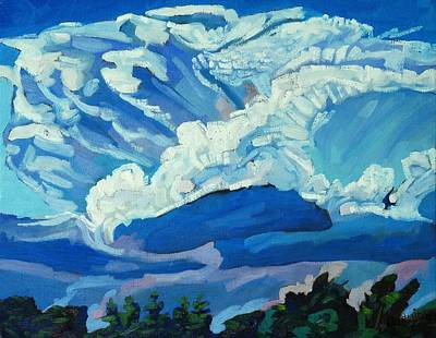 Storm Clouds Painting - Singleton Supercell by Phil Chadwick