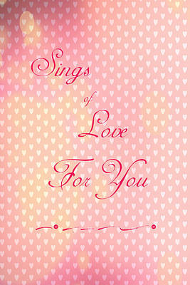 Digital Art - Sings Of Love by Judy Hall-Folde