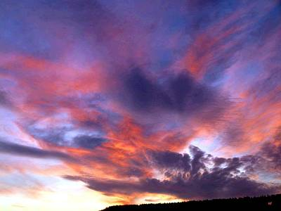 Singular Sunset Art Print
