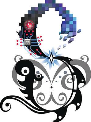 Carolyn Anderson Digital Art - Singularity Logo by Carolyn Anderson