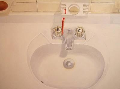 Still Life Painting - Sink by Nigel Wynter