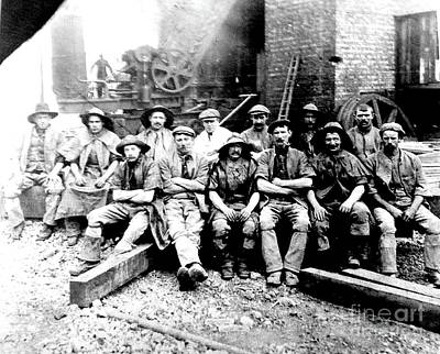 Photograph - Sinkers,rossington Colliery,1915 by John Bailey Photos