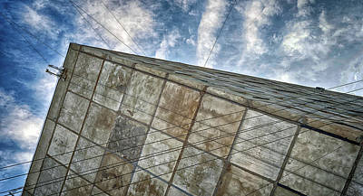 Photograph - Sinking Building Sky Of Dread by John Williams