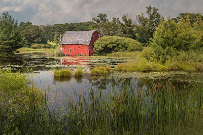 Photograph - Sinking Red Barn #3 by Patti Deters