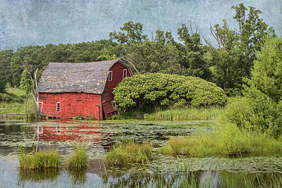 Photograph - Sinking Red Barn #2  by Patti Deters