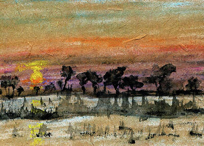 Painting - Sinking Sun by R Kyllo