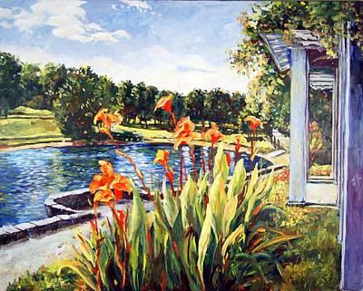 Painting - Sinnissippi Gardens Lagoon by Ingrid Dohm