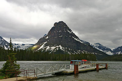 Photograph - Sinopah Mountain And Two Medicine Lake by Christiane Schulze Art And Photography