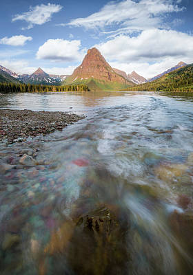 Photograph - Sinopah // Two Medicine Lake, Glacier National Park  by Nicholas Parker