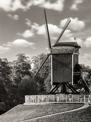 Windy Photograph - Sint-janshuismolen by Wim Lanclus