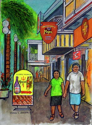 Painting - Sint Maarten Street Scene by Frank Hunter