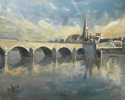 Painting - Sint Servaas Bridge Maastricht by Nop Briex