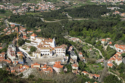 Photograph - Sintra National Palace Aerial by Georgia Mizuleva