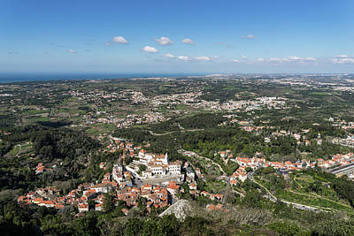 Photograph - Sintra National Palace Aerial Vista by Georgia Mizuleva