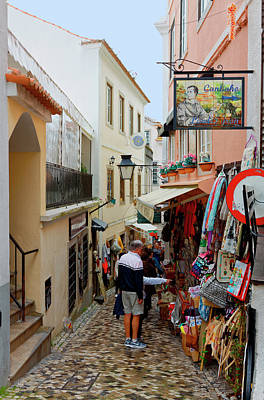 Photograph - Sintra Street Scene by Sally Weigand