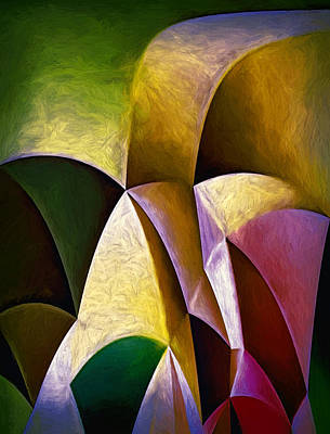 Colour Painting - Sinuosity Six by John K Woodruff