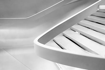 Stairs Digital Art - Sinuous In White by Jessica Jenney