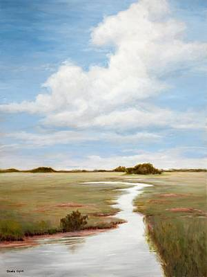 Painting - Sinuous Marsh by Glenda Cason