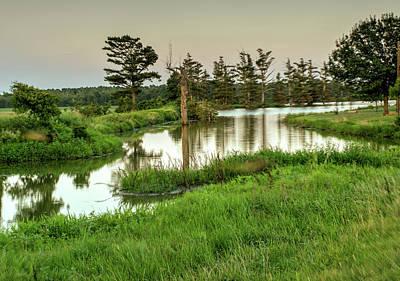 Photograph - Sinuous Southern Lake by Douglas Barnett