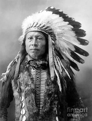 Alvin Photograph - Sioux Brave, C1900 by Granger