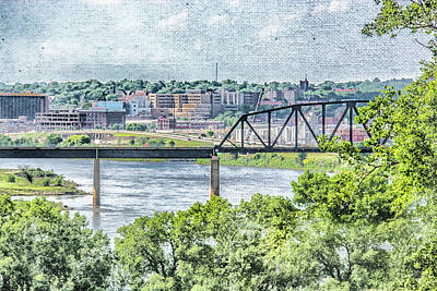 Digital Art - Sioux City Cityscape by Pamela Williams