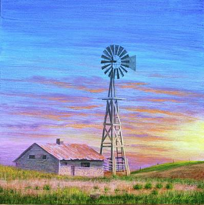 Painting - Sioux County Sunrise by J W Kelly
