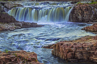 Photograph - Sioux Falls River And Waterfalls by Randall Nyhof