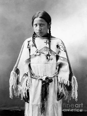 Artflakes Photograph - Sioux Girl, C1900 by Granger