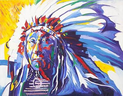 Gustavo Oliveira Painting - Sioux - Indian by Gustavo Oliveira