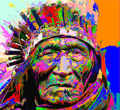 Painting - Sioux Nation Chief He Dog by Samuel Majcen