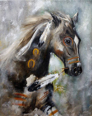 Painting - Sioux War Pony by Barbie Batson