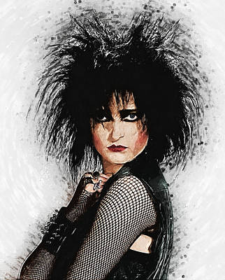 Digital Art - Siouxsie Sioux by Taylan Apukovska