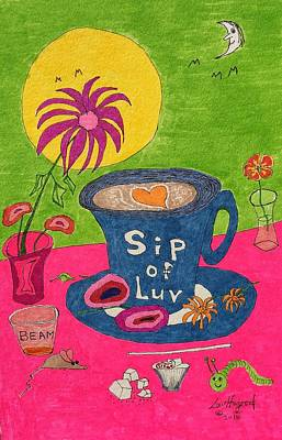 Painting - Sip Of Luv by Lew Hagood