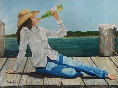 Sippin' On The Dock Of The Bay Art Print by Patricia DeHart