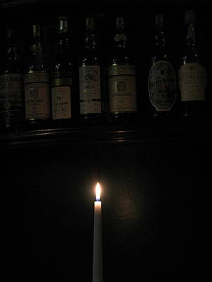 Sipping By Candlelight Art Print by Staci-Jill Burnley
