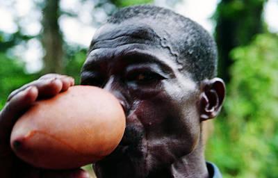Photograph - Sipping Palm Wine by Muyiwa OSIFUYE