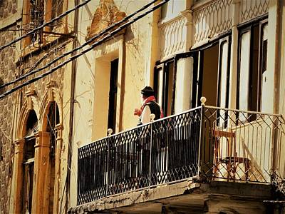 Photograph - Sipping Tea On The Balcony In Beirut  by Funkpix Photo Hunter