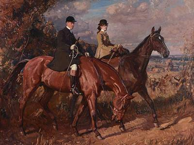 Women On Horses Painting - Sir Alfred James Munnings by MotionAge Designs